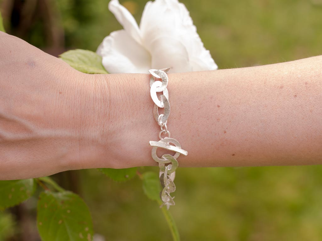 TRUE SILVER   Bracelet in brushed Sterling Silver (made to order)