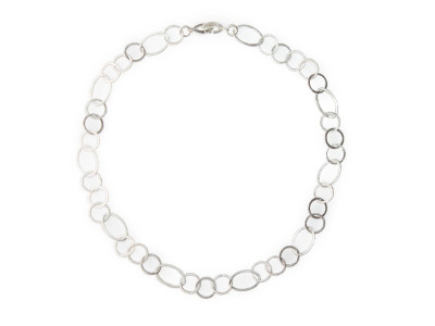 Classic Sterling Silver Loops necklace | handcrafted cloud shaped loops with a structured surface (sold)