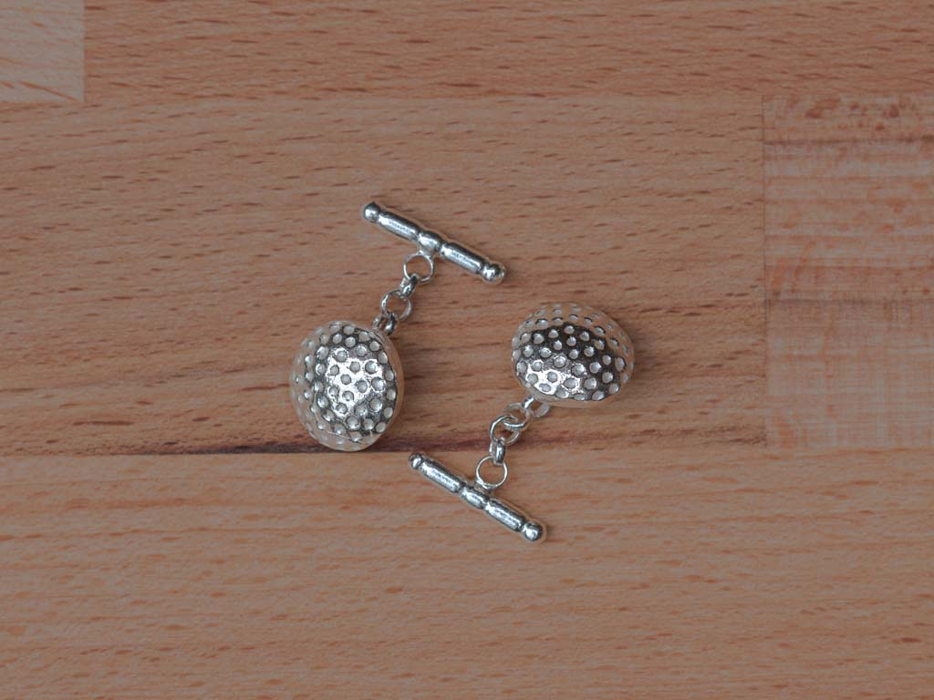 TWO UNDER PAR | Golf ball Cufflinks in Sterling Silver