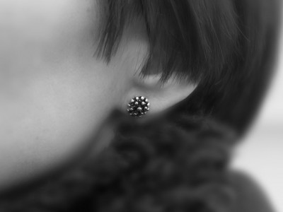 OCTOPUS | Sterling Silver ear studs with black finish (sold out)