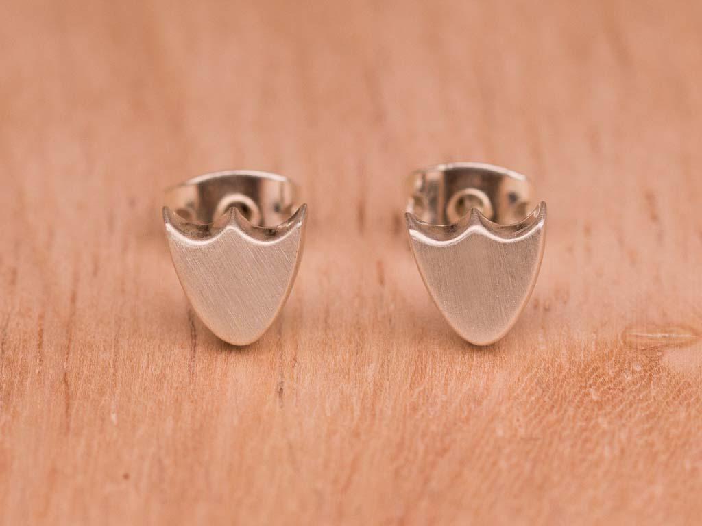 LOTUS FLOWERS   Ear studs in matte Sterling Silver (sold)