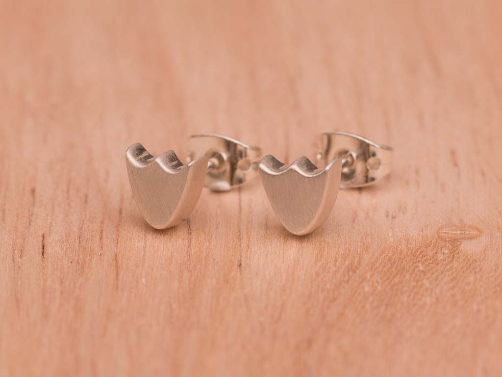 LOTUS FLOWERS | Ear studs in matte Sterling Silver (sold)