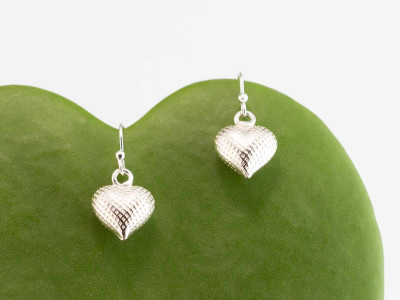 Silver Hearts Earrings | Sterling Silver with structured surface (sold out)