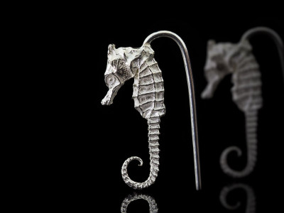 SEAHORSES | Sterling Silver earrings (made to order)