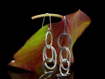 TRUE SILVER | Earrings in brushed Sterling Silver