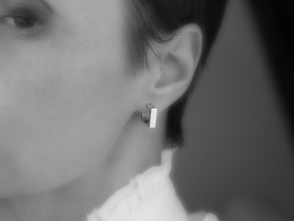 SQUARE OF THE CIRCLE | Solid Sterling Silver ear studs (sold out)