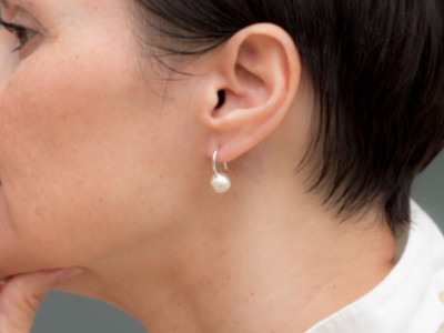 SPHERES   Sterling Silver earrings with brushed finish (sold)
