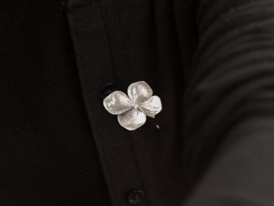 HYDRANGEA FLOWER | Brooch in Sterling Silver (sold)