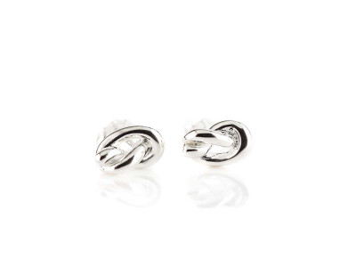 The Knot earrings | polished Sterling Silver ear studs (Sold Out)