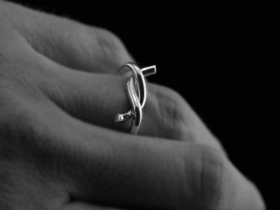 The Knot Ring | polished Sterling Silver | for the gentleman (sold out)
