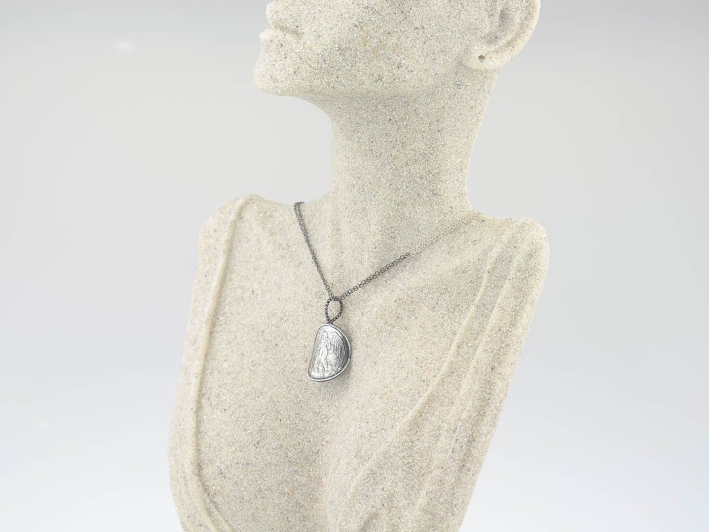 ANGEL DOUBLE | Necklace in black and white Sterling Silver (made to order)