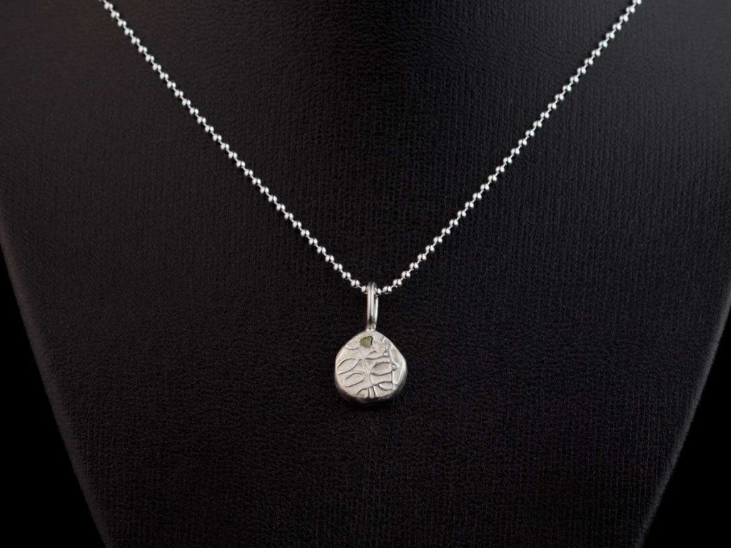 Diamond on a tree necklace | Sterling Silver with uncut raw diamond (sold out)