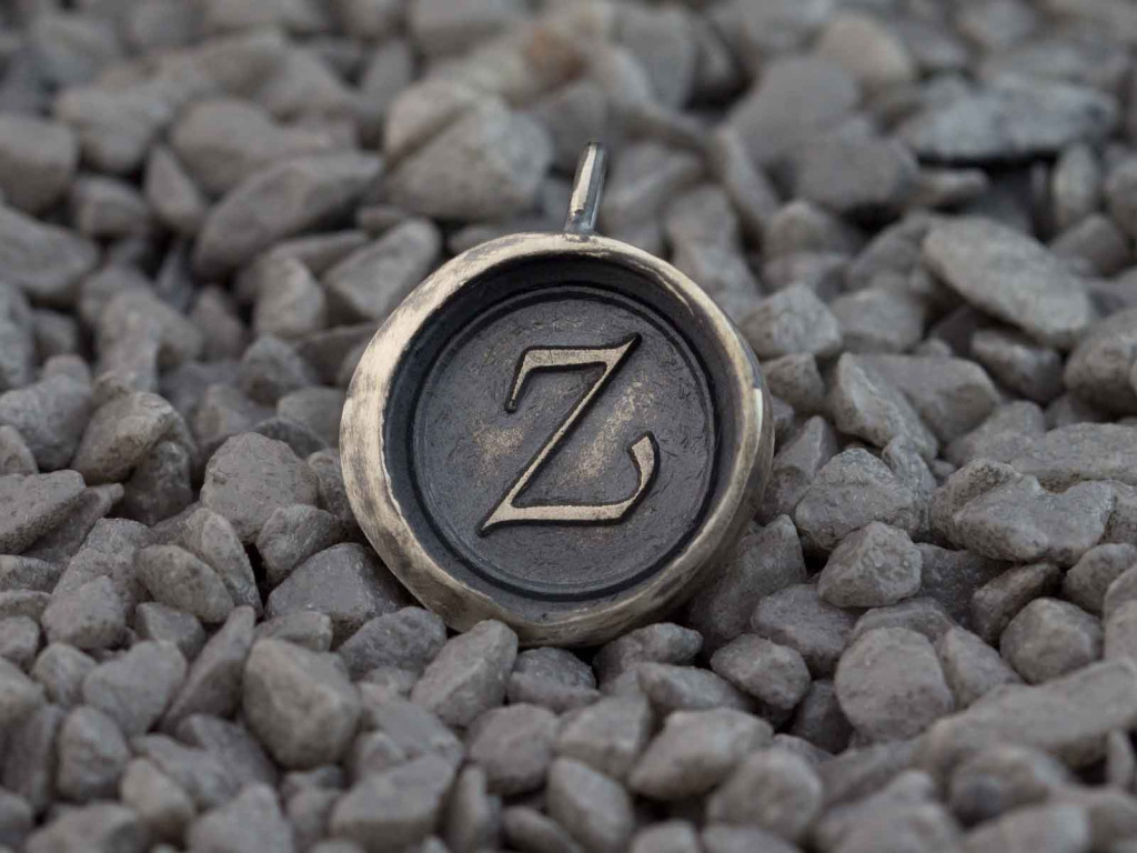 Sterling Seal Token | Bespoke pendant with letter of your choice