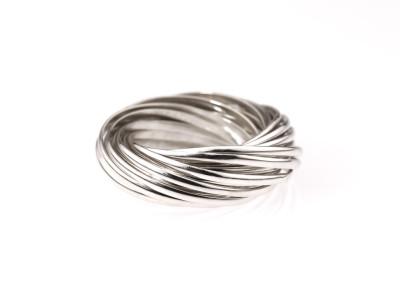 TWENTYONE | Sterling Silver rings intertwined (custom made)