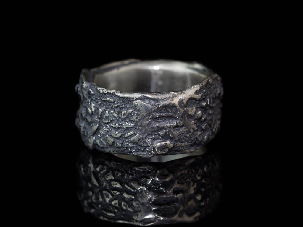 LACE IT | 2 Sterling Silver rings with Vintage lace structure (bespoke)