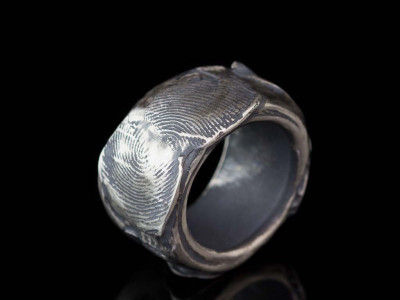 FINGERPRINT VINTAGE | Solid Sterling Silver ring (made to order)
