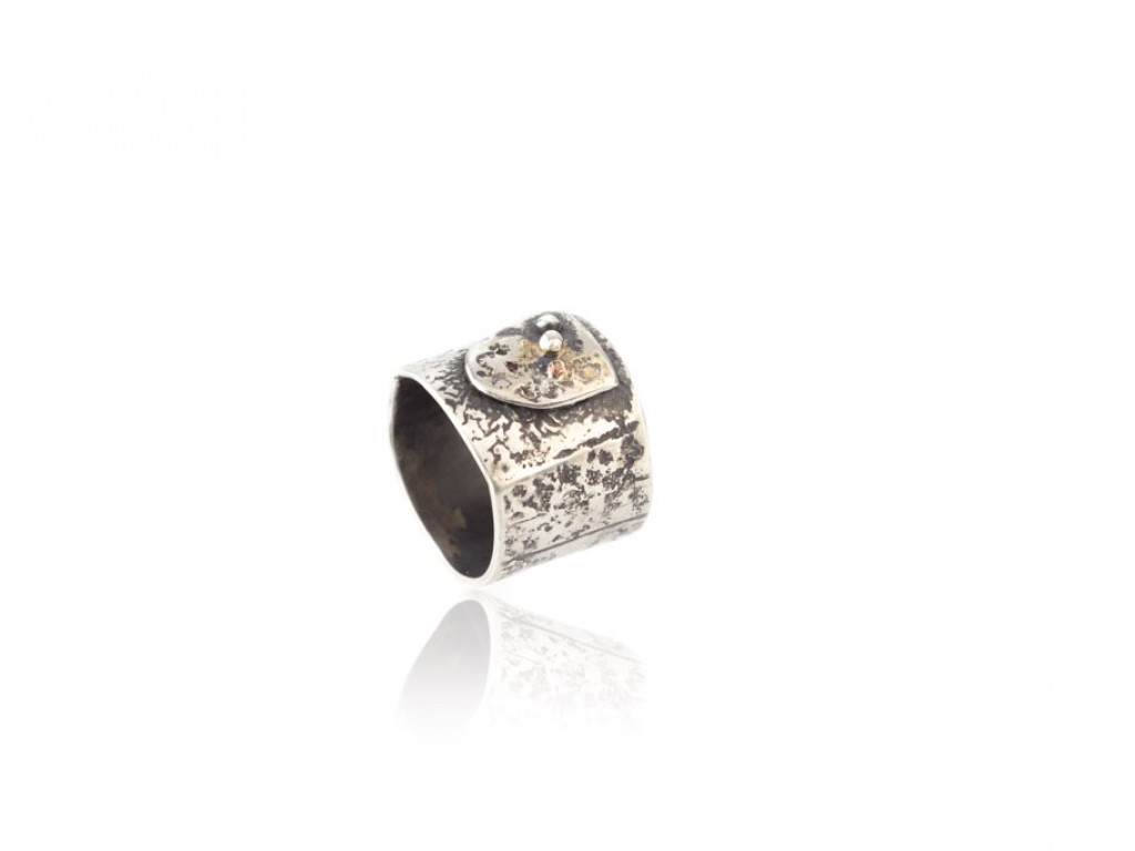 COAT OF ARMS VINTAGE | Sterling Silver ring with 9ct Gold (sold)