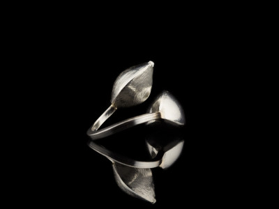 DOUBLE WRAP PODS | Sterling Silver ring with 9ct Gold