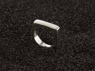 SQUARE OF THE CIRCLE | Solid Sterling Silver ring (made to order)