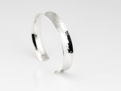 Liquid Shine Bangle | Softly wrought polished Sterling Silver (Sold out)