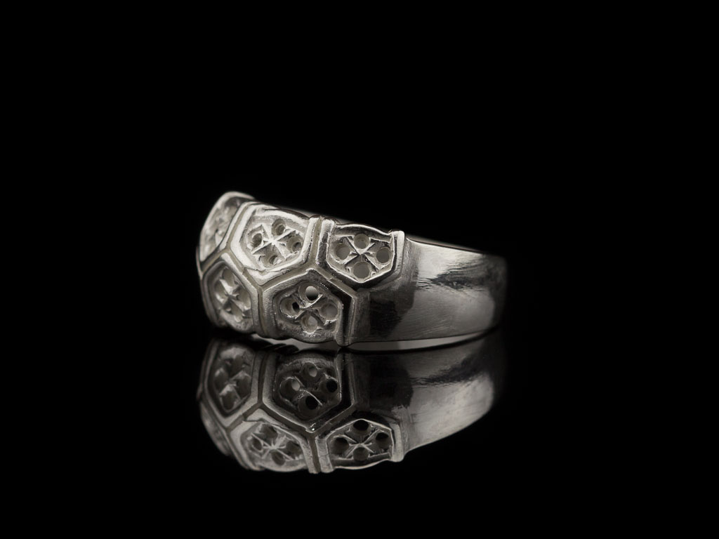 SILVER HONEYCOMB | Sterling Silver ring