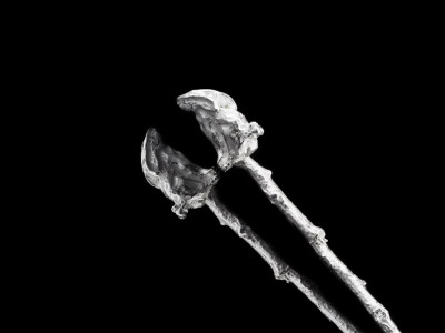 RABBIT ON TWIG   Sterling Silver spoon
