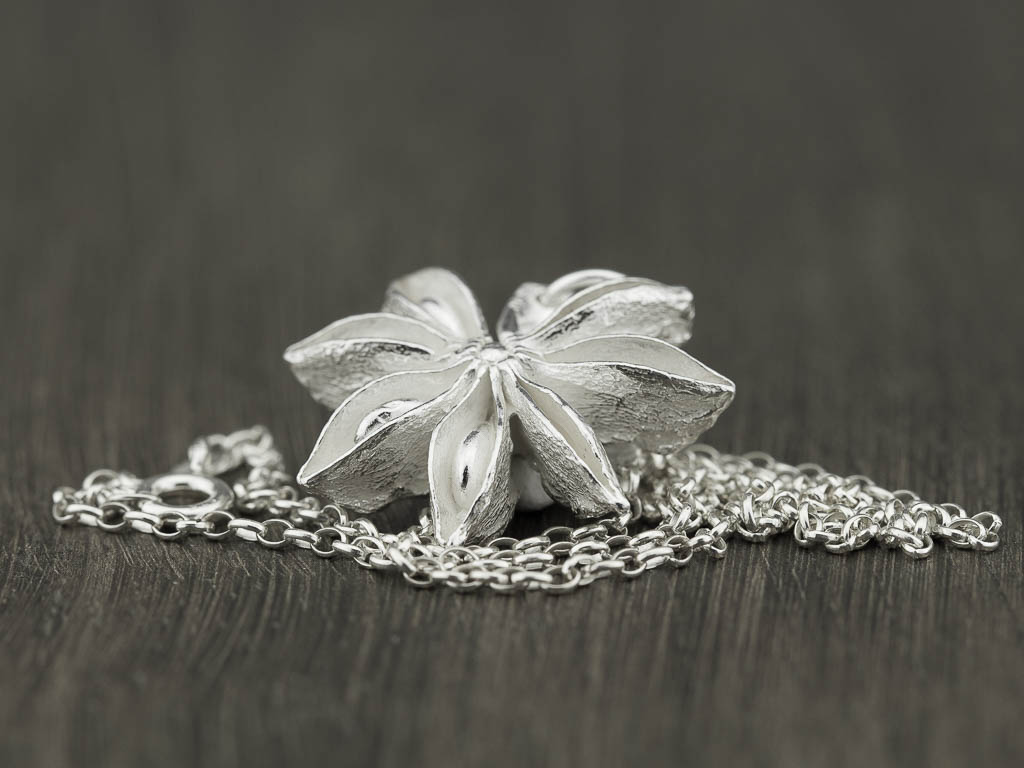 STAR ANISE | Necklace handcrafted of Sterling Silver (made to order)