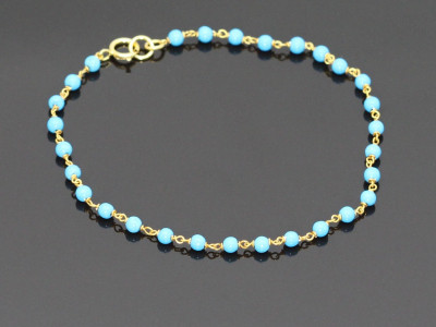 Turquoise Chain Bracelet (sold out)
