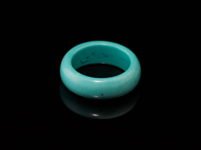 SOLID SMOOTH TURQUOISE  Hand carved ring