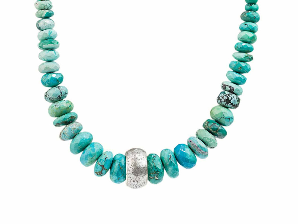 Arizona - 24ct Gold plated Turquoise necklace inspired by American Native Jewellery (sold out)