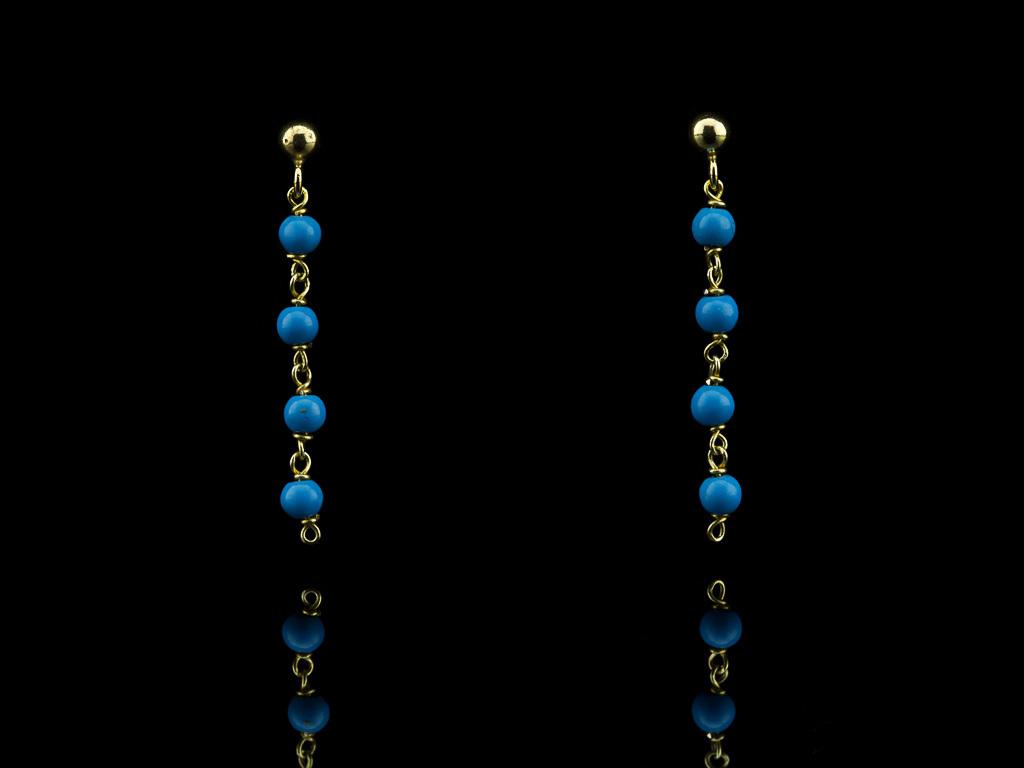 SLEEPING BEAUTY | Turquoise gold vermeil earrings (sold)