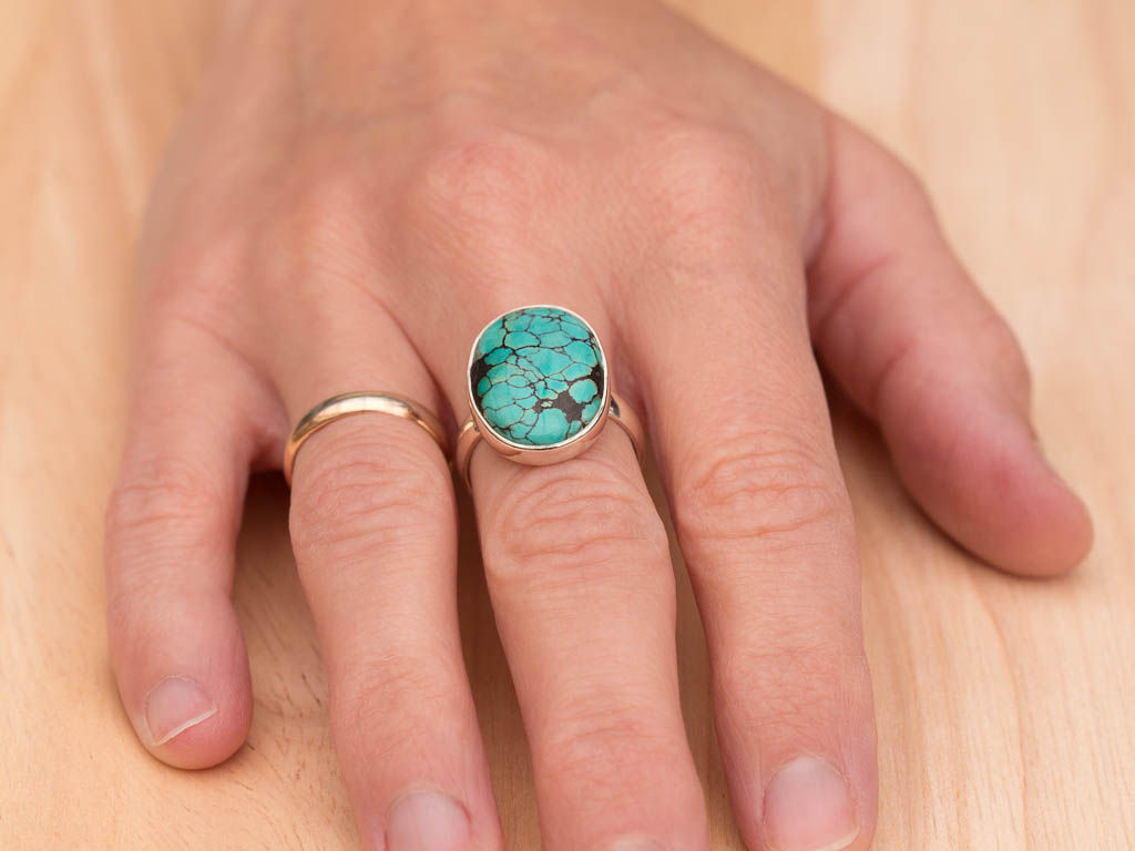 THE GREAT OVAL TURQUOISE | Sterling Silver ring (Sold Out)