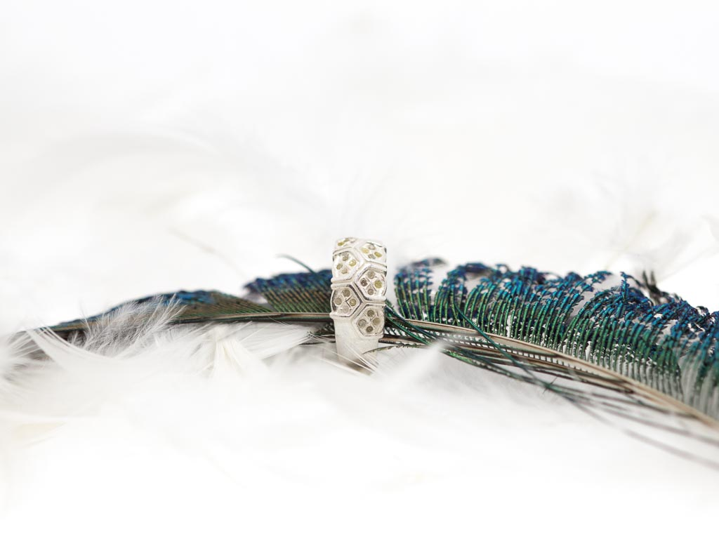 Mit Bienenwabe Aus 925er DiamantenRing Silber SMUpGqVzL
