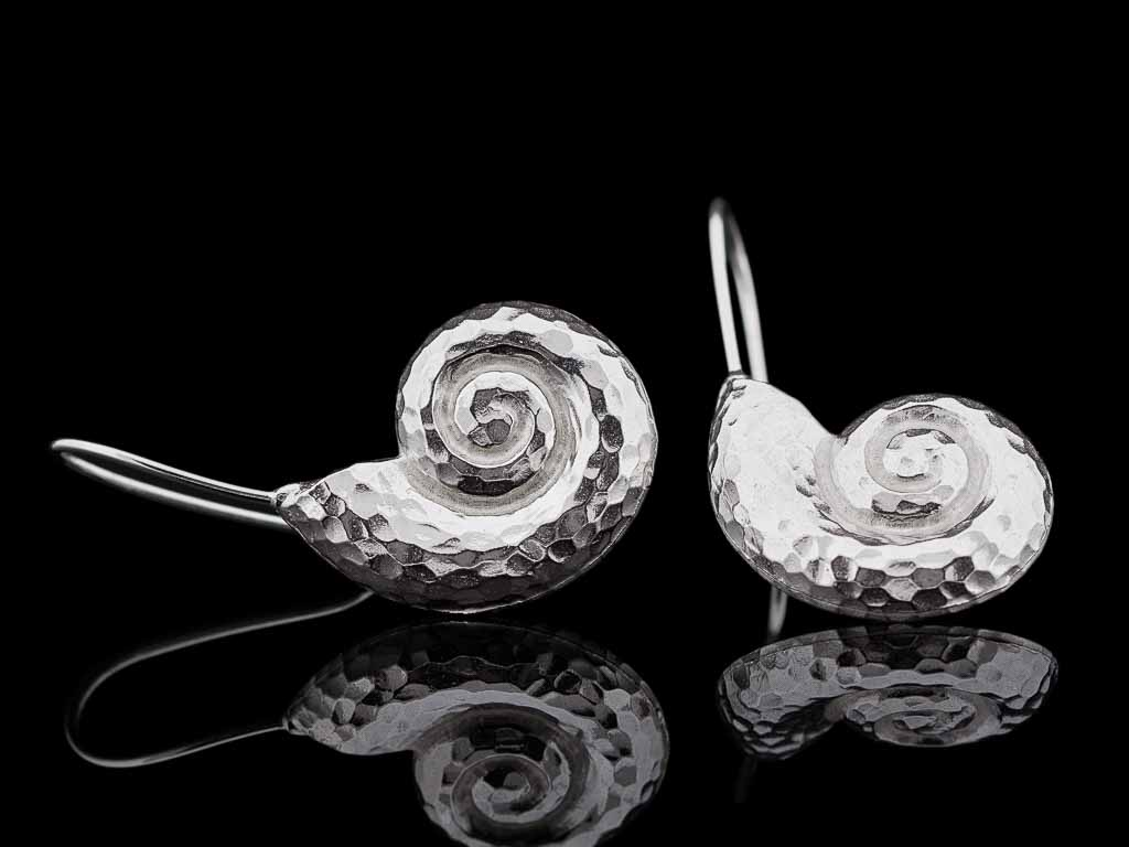 Sterling Silver Earrings Fibonacci Spiral Golden Ratio Beauty