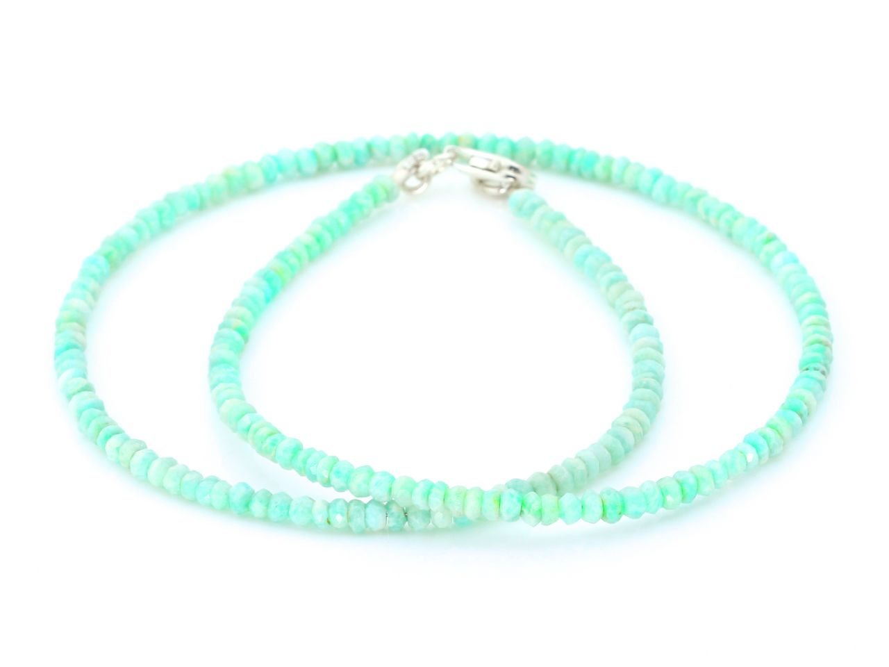 Facets of Green and Blue Amazonite   Necklace with facetted Ocean ...
