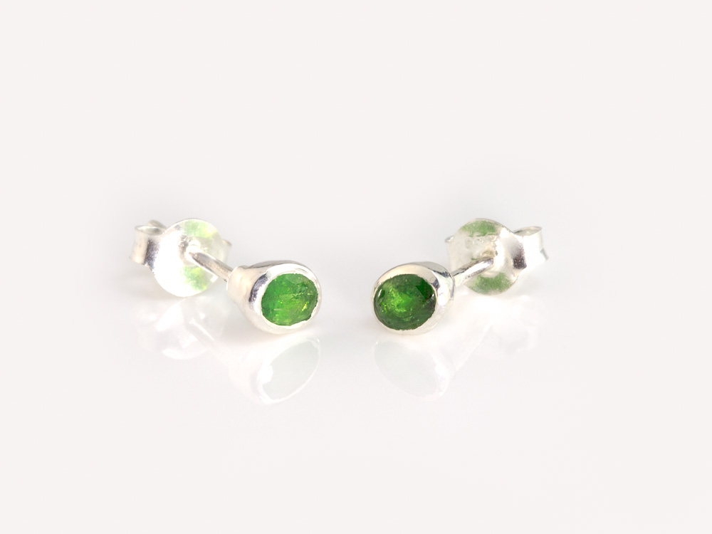 Tsavorite Garnet Sterling Silver Ear Studs With Green Already Sold Out
