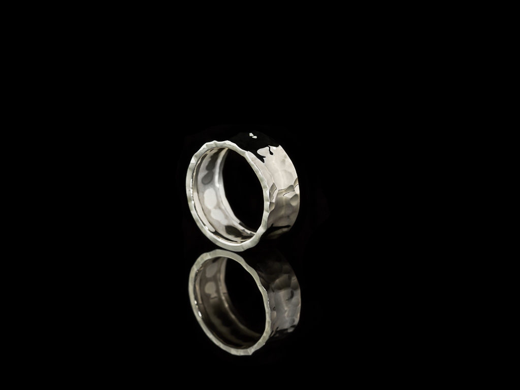 46664a7f1b6a4 CONCAVE | Wrought Sterling Silver ring for men